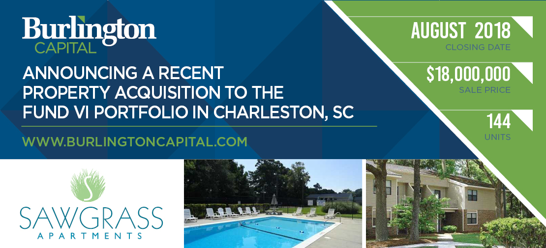 Announcing a Recent Property Acquisition to the Fund VI Portfolio in Charleston, SC
