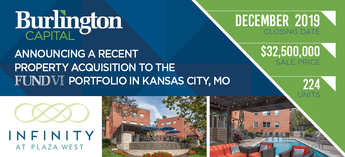 Announcing a Recent Property Acquisition to the Fund VI Portfolio in Kansas City, MO