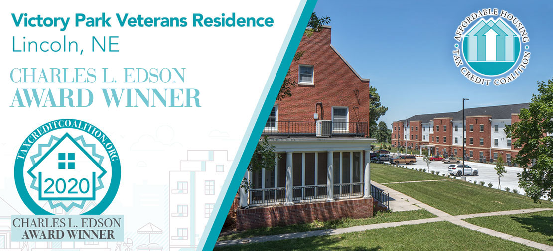 Burlington Capital's Victory Park Veterans Residence in Lincoln Honored with Affordable Housing Award From National Coalition