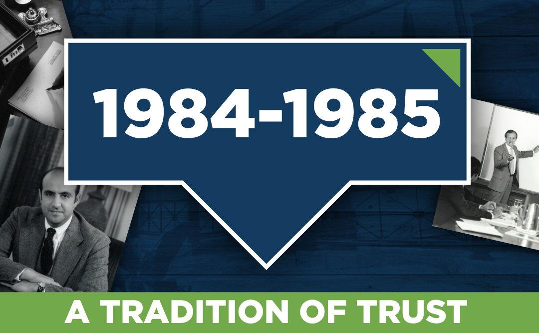 Burlington Capital History- 1984-1985
